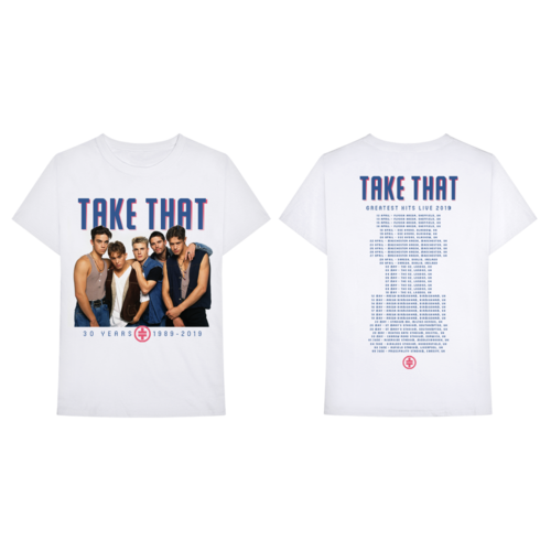 Take That: Retro Tour Tee White