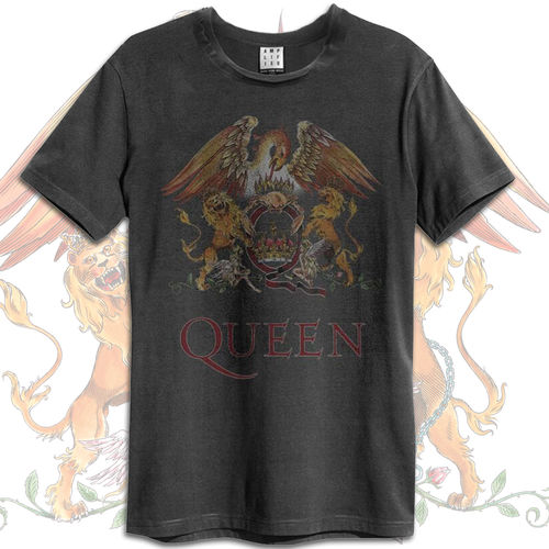 Queen: Queen Crest Vintage Amplified Tee