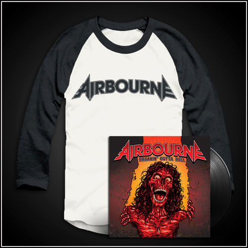 Airbourne: Logo Baseball Shirt & Vinyl
