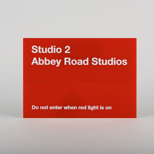 Abbey Road Studios: Studio Two Replica Red Perspex Sign