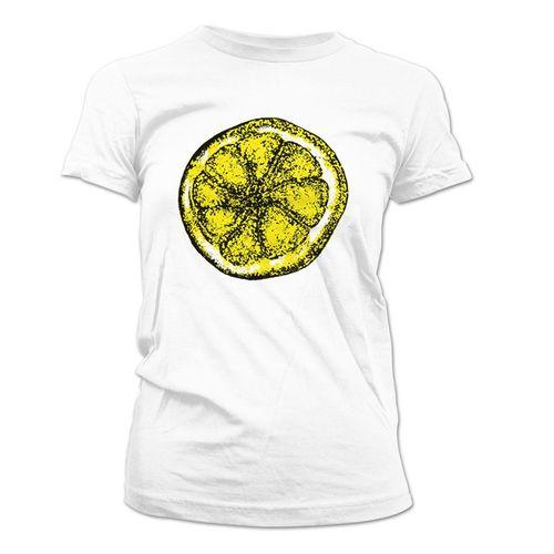 The Stone Roses: Lemon Design Womens White T-Shirt