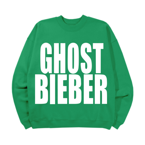 justin bieber: Ghost Bieber Crewneck