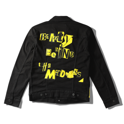 The Weeknd: CUT OUT LEVI'S DENIM JACKET