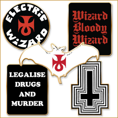 Electric Wizard: Enamel 5 Badge Set
