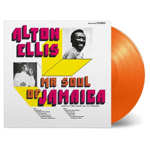 Alton Ellis: Mr Soul Of Jamaica: Limited Orange Vinyl