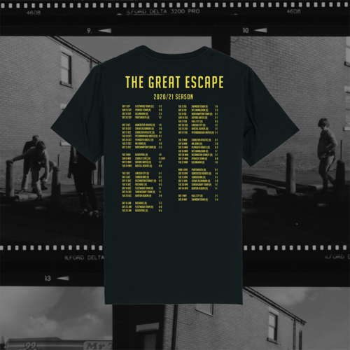 The Lathums: The Lathums x Wigan Athletic: The Great Escape Black Tee, Exclusive Black Vinyl + CD