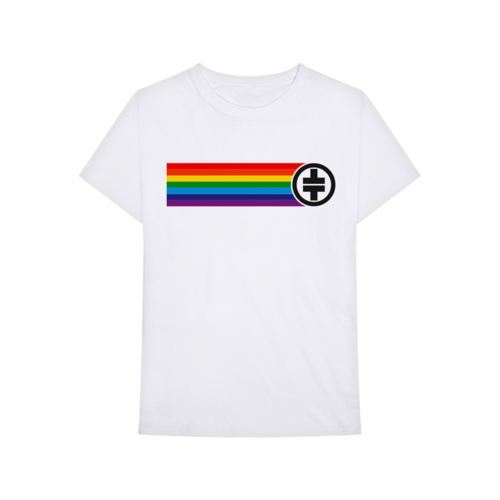 Take That: Rainbow Tee White