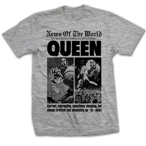 Queen: News Of The World Front Page T-Shirt