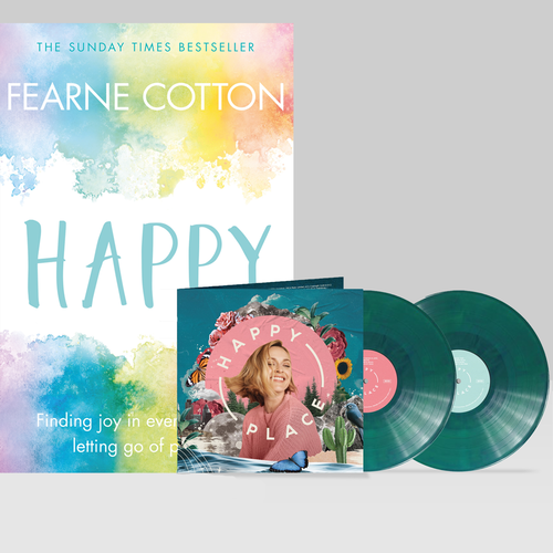 Various Artists: Happy Place LP, Signed Artcard & Book Bundle
