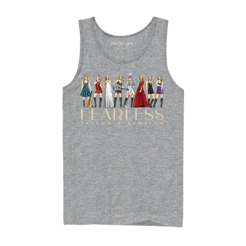 Taylor Swift: Fearless (Taylor's Version) Eras Collection Grey Tank