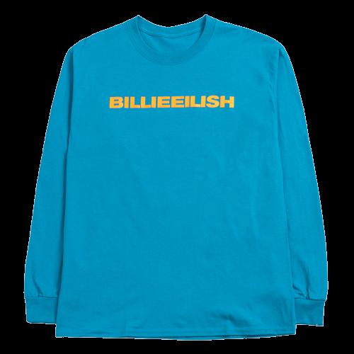 Billie Eilish: dont smile at me sapphire longsleeve tee