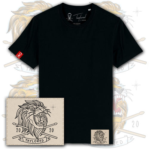 Roger Taylor: Taylored 'Embroidered Lion Patch' T-Shirt