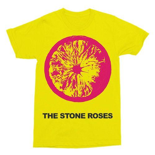 The Stone Roses: Large Lemon on Yellow T-Shirt