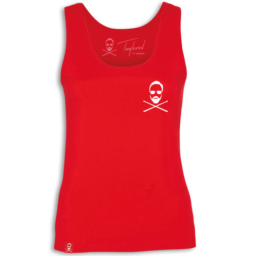 Roger Taylor: 'Taylored' Womens Pocket print vest Red