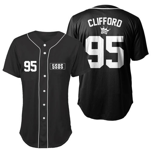 5 Seconds of Summer: Clifford Baseball Jersey Small