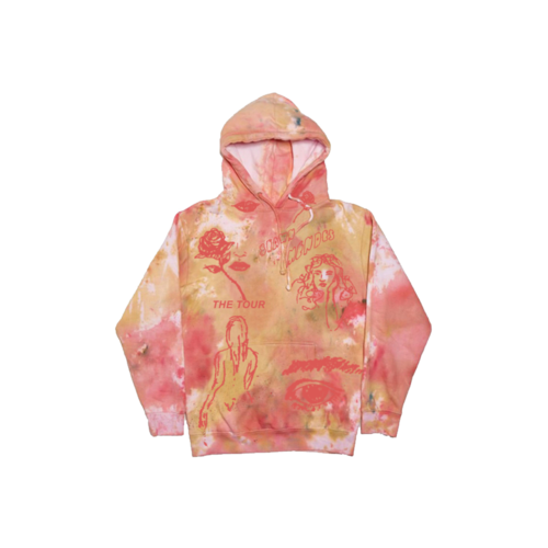 Shawn Mendes: THE TOUR SKETCH TIE DYE HOODIE