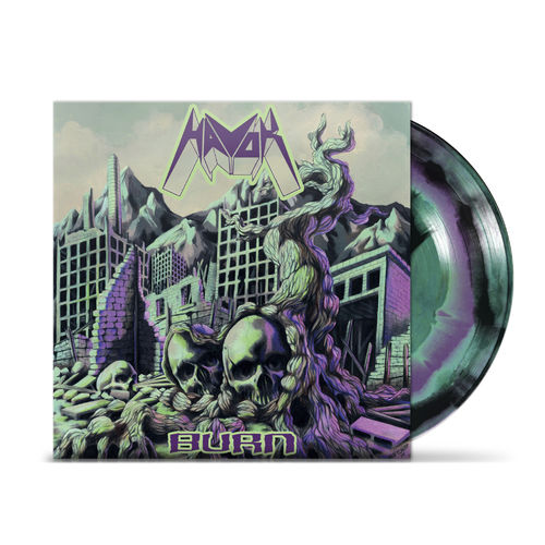 Havok: Burn Black/Turquoise & Purple swirl vinyl