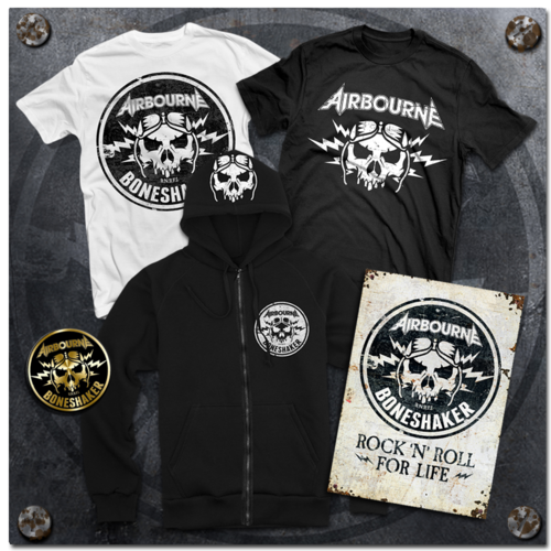 Airbourne: Boneshaker Merch Bundle