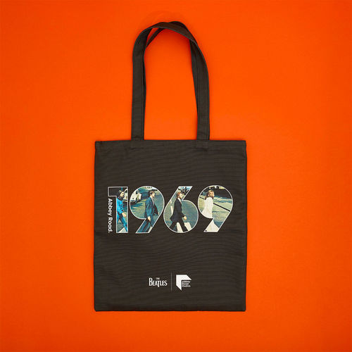 Abbey Road Studios: The Beatles Abbey Road 1969 Black Tote Bag
