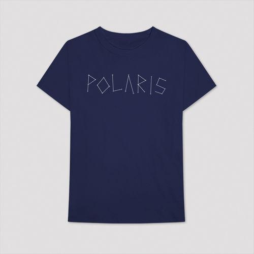 Aitch: BLUE WRITTEN POLARIS LOGO T-SHIRT