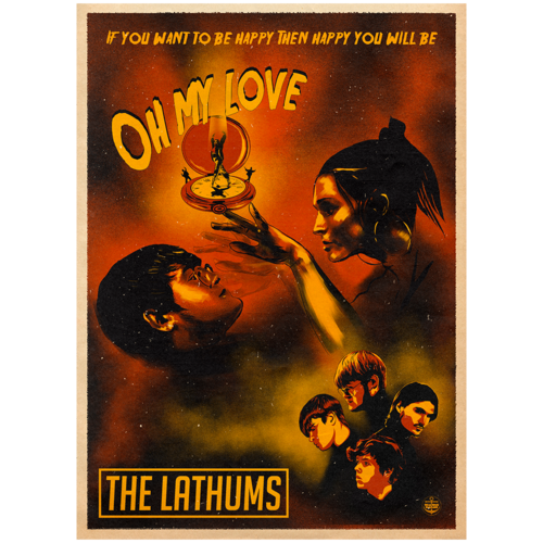 The Lathums: Oh My love Limited Edition Numbered A3 Screenprint