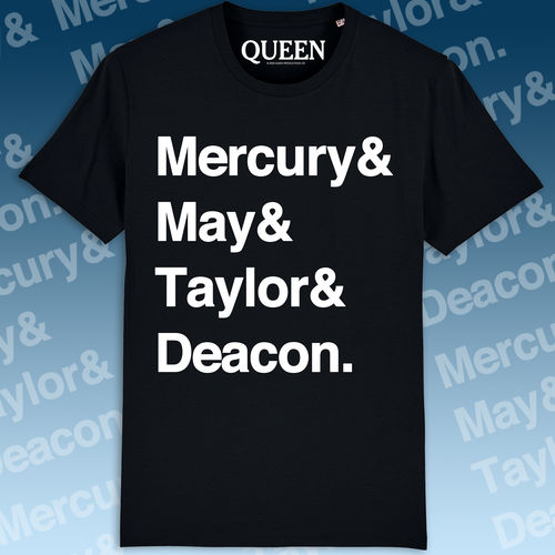Queen: Names T-Shirt Black