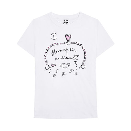 Florence + The Machine: White Doodle tee