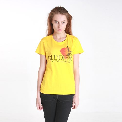 Freddie For A Day: Freddie For A Day Logo Ladies Yellow T-Shirt - X-Large