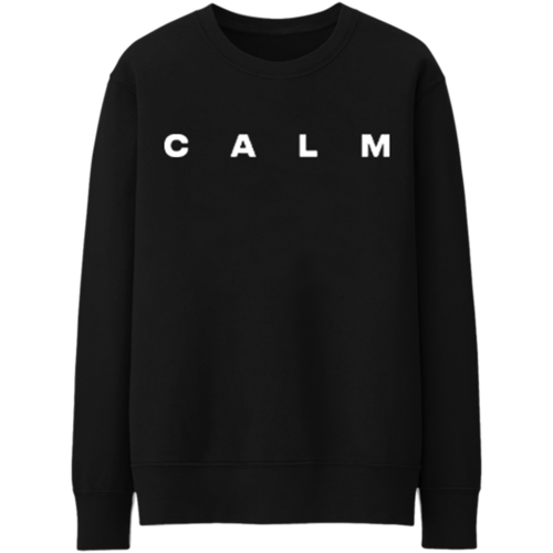 5 Seconds of Summer: Calm Embroidered Black Crewneck