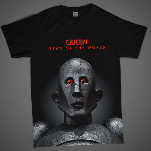 Queen: News Of The World 'Frank' Full Print T-Shirt