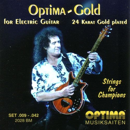 Brian May: Optima Gold 2028BM Brian May Electric Guitar Strings