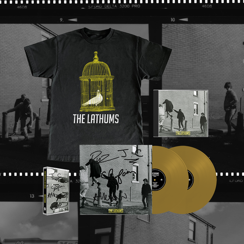 The Lathums: How Beautiful Can Life Can Be: Signed Deluxe Vinyl,Deluxe CD,Signed Deluxe Cassette & Black Tee