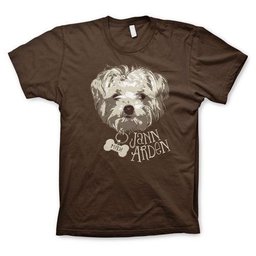 Jann Arden: Jann Arden - Brown Midi Dog Tee
