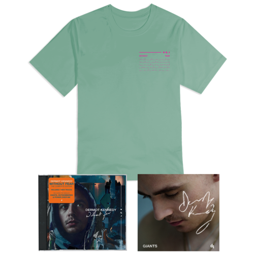 Dermot Kennedy: WITHOUT FEAR COMPLETE EDITION: CD, PASTEL GREEN T-SHIRT + SIGNED INSERT