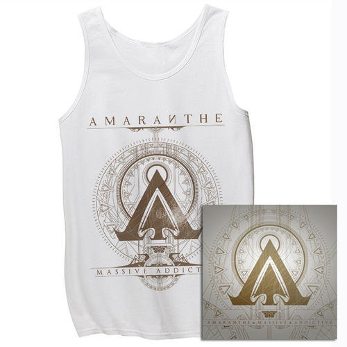 Amaranthe: Massive Addictive White Tank & Double Vinyl Bundle