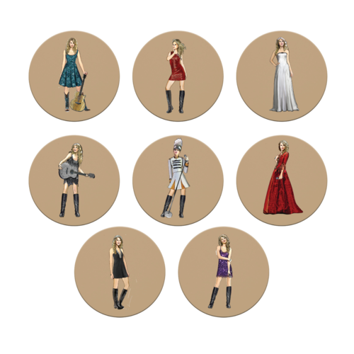 Taylor Swift: Fearless (Taylor's Version) Eras Collection Coaster Set
