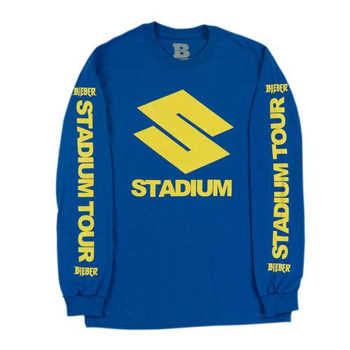 Justin Bieber: Stadium S Blue Long Sleeve