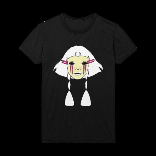 Aurora: AURORA face drawing black t-shirt