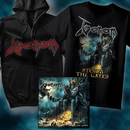 Venom: Coloured Vinyl, T-Shirt & Hoodie Bundle