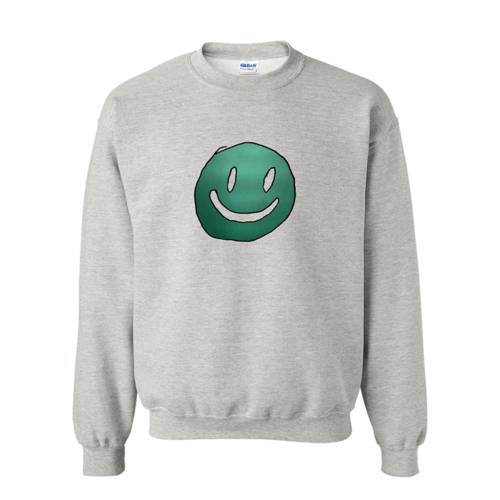 Mac DeMarco: Smiley Face Grey Crewneck - S