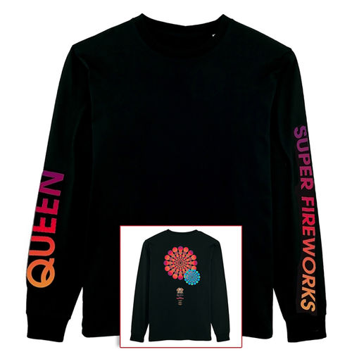 Queen: Super Fireworks Longsleeve T-Shirt - XL