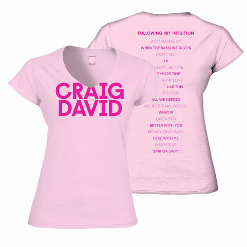 Craig David: Craig David Women's V-neck T-Shirt