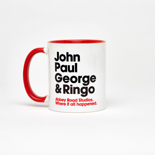 Abbey Road Studios: The Beatles Where It All Happened Names Mug