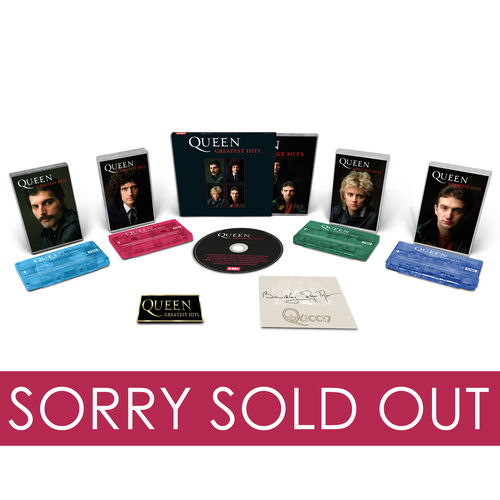 Queen: Signed CD, Collectors Cassette Set and Badge Bundle SOLD OUT