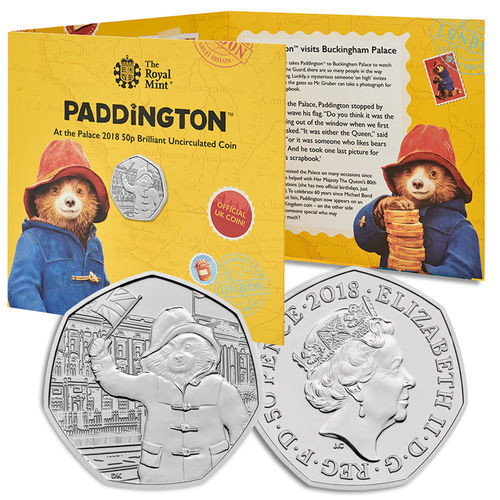 Paddington Bear: 60th Anniversary Paddington Bear at Buckingham Palace 2018 UK 50p BU Coin
