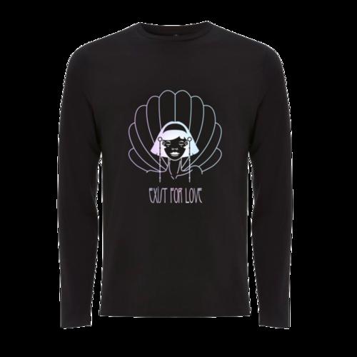 Aurora: EFL illustration black longsleeve t-shirt