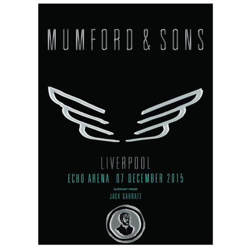 Mumford & Sons : Liverpool, UK, 2015 Show Screen Print