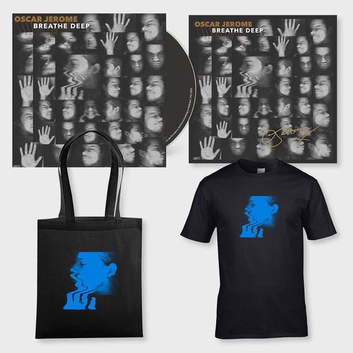 Oscar Jerome: Breathe Deep: CD, T-shirt, Tote + Signed print