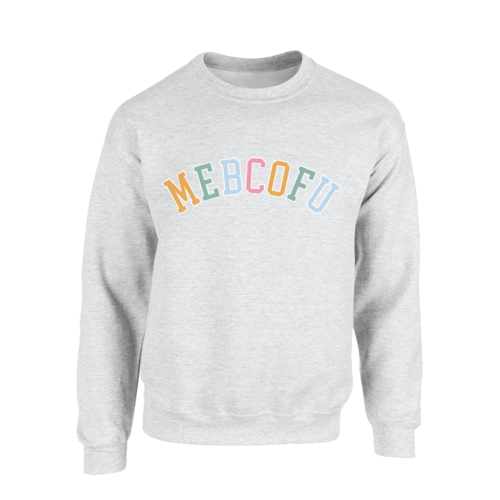 HRVY: MEBCOFU Grey Crew Neck