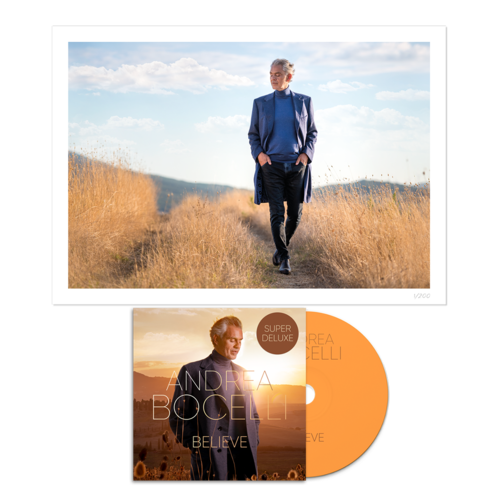 Andrea Bocelli: Believe Super Deluxe CD & Signed Print Bundle
